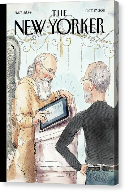 Apples Canvas Print - New Yorker October 17th, 2011 by Barry Blitt