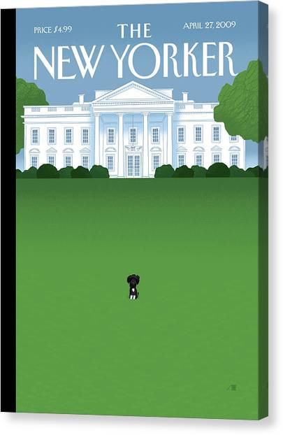 President Canvas Print - New Yorker April 27th, 2009 by Bob Staake