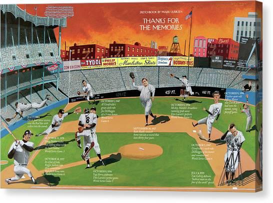Yankee Stadium Canvas Print - New Yorker September 22nd, 2008 by Mark Ulriksen