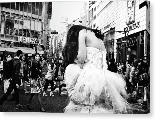 Bride Canvas Print - Untitled by Tatsuo Suzuki