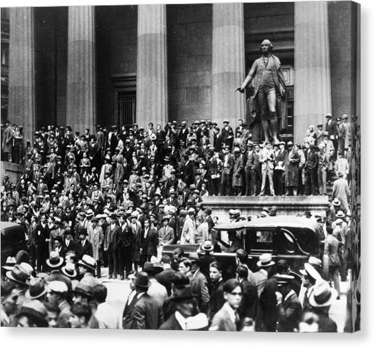 Carousel Collection Canvas Print - Wall Street Crash, 1929 by Granger