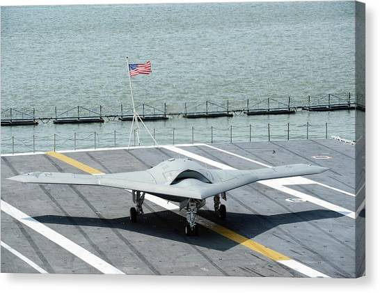 Atlantic 10 Canvas Print - X-47b Unmanned Combat Air Vehicle by Us Air Force