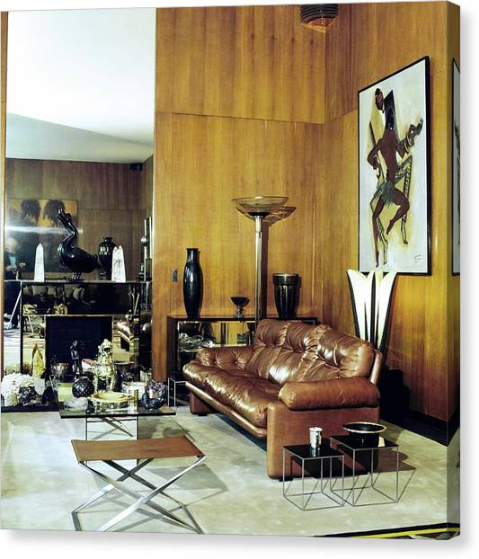 Yves Saint Laurent's Living Room Canvas Print by Horst P. Horst