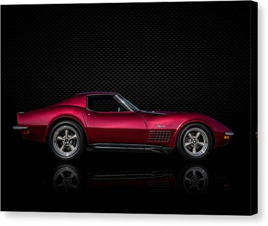 Chevy Canvas Print - '71 Red by Douglas Pittman