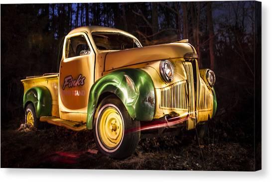 7136 Old Truck Lightpainting Canvas Print by Deidre Elzer-Lento