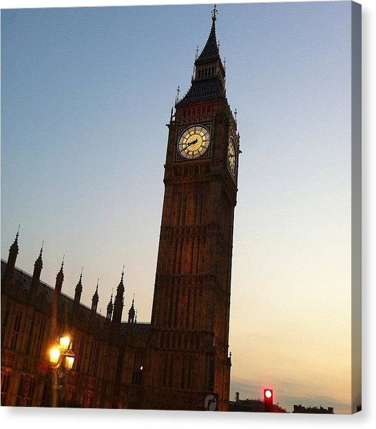 Parliament Canvas Print - Big Ben by Rhian Norman