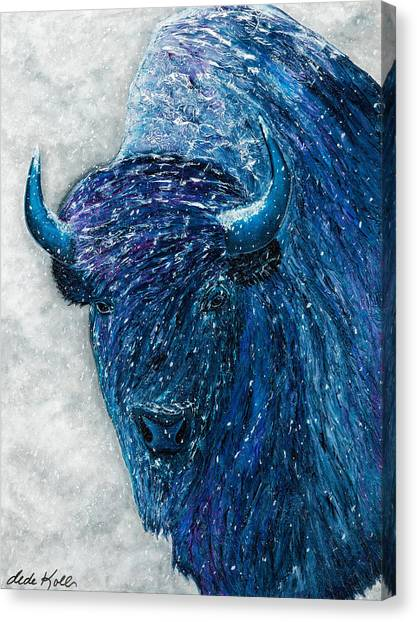 Buffalo  - Ready For Winter Canvas Print