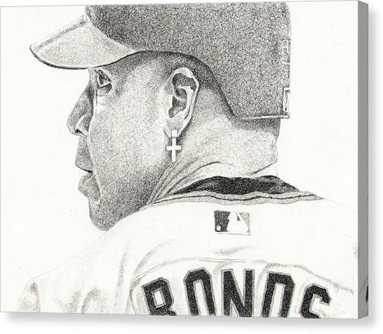 Barry Bonds Canvas Print - 73 by Paul Smutylo