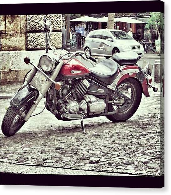 Yamaha Canvas Print - Instagram Photo by Styledeouf ®