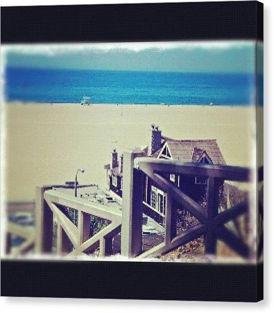 Santa Monica Pier Canvas Print - Instagram Photo by Alexandra Christina