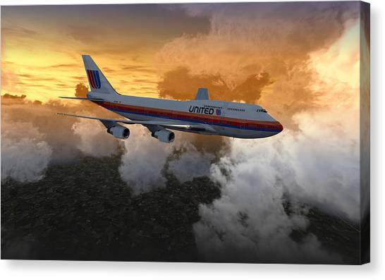 747 28.8x18 03 Canvas Print