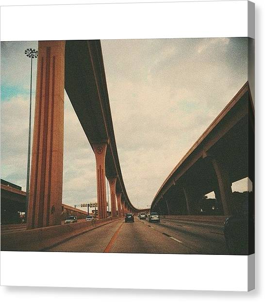 Interstates Canvas Print - 75. #instadfw #vsco #vscocam @instadfw by Ian Harber