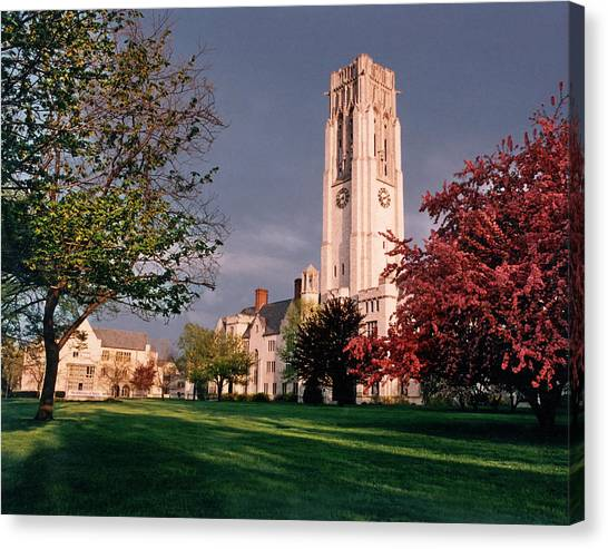 University Of Toledo Canvas Print - 7535 University Of Toledo Bell Tower by Chris Maher