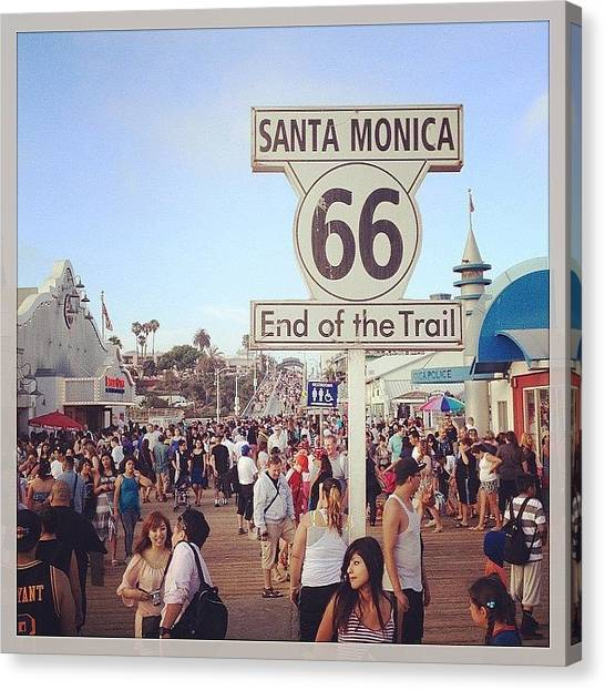 Santa Monica Pier Canvas Print - End Of The Road by Marisol Amador