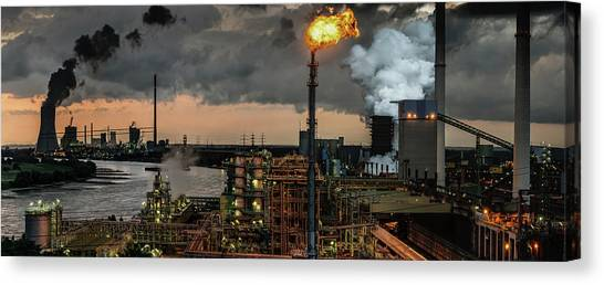Pollution Canvas Print - 780a? A?? Industrial Pleasure by Rainer Inderst