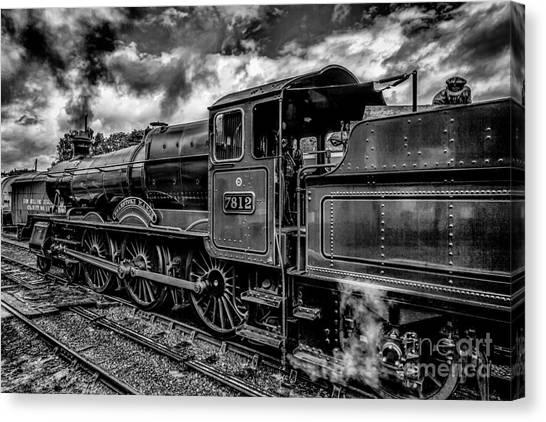 Steam Trains Canvas Print - 7812 Erlestroke Manor by Adrian Evans