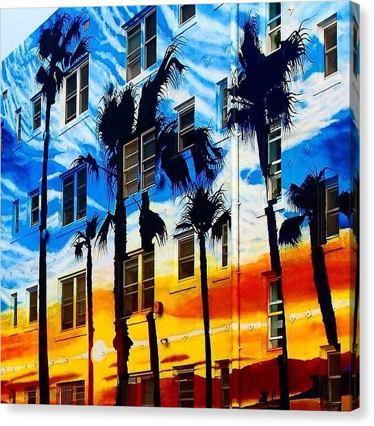Venice Beach Canvas Print - Colors Of Venice Beach by Hal Bowles