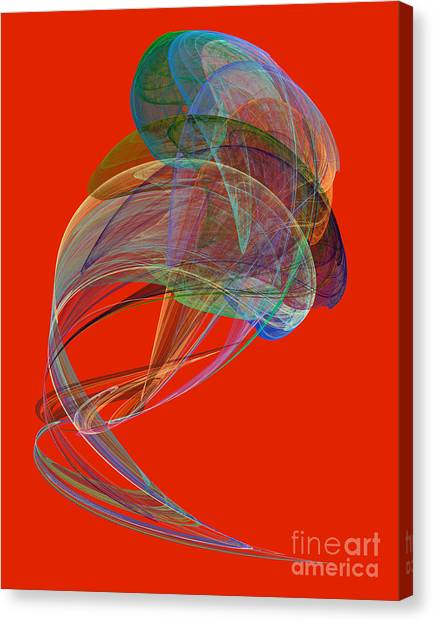 Abstract Futuristic Shape Canvas Print by Odon Czintos