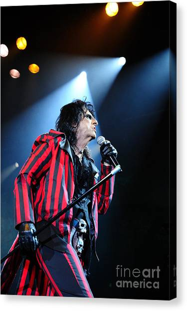 Alice Cooper Canvas Print - Alice Cooper by Jenny Potter