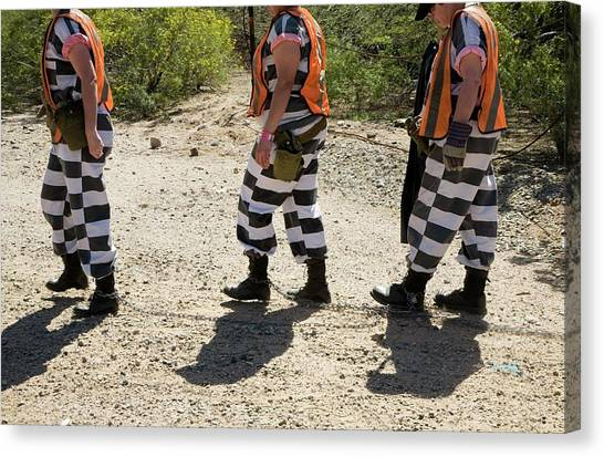 Chain Gang Canvas Print by Jim West