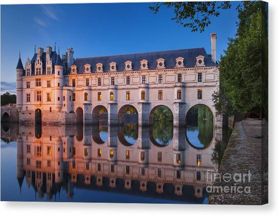 Castle Canvas Print - Chateau Chenonceau by Brian Jannsen