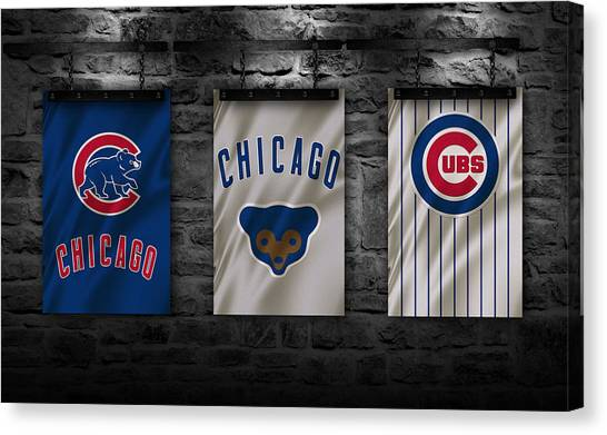 Baseball Teams Canvas Print - Chicago Cubs by Joe Hamilton
