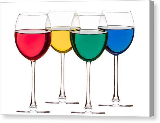Colorful Drinks Canvas Print