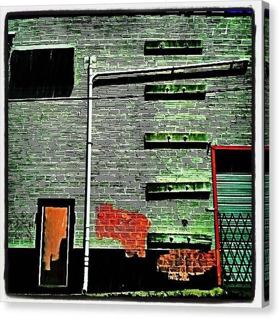 Warehouses Canvas Print - Colorful Nola by Glen Abbott