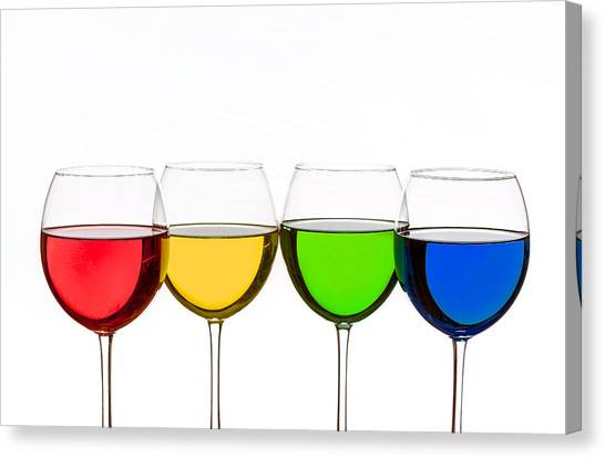 Colorful Wine Glasses Canvas Print