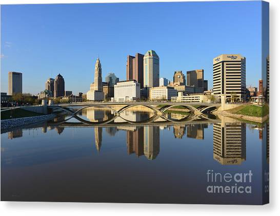 Fx1l-1058 Columbus Ohio Skyline Photo Canvas Print