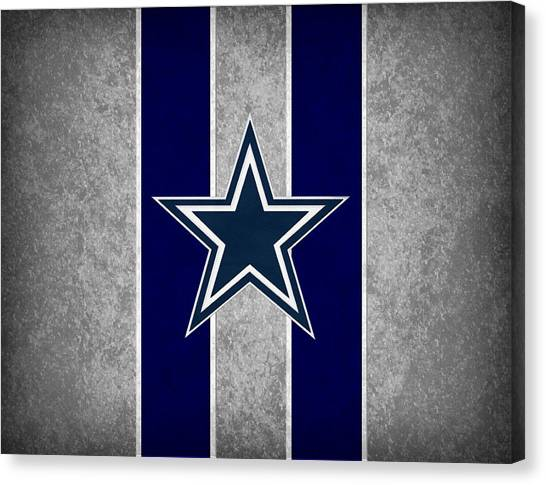 Goal Canvas Print - Dallas Cowboys by Joe Hamilton
