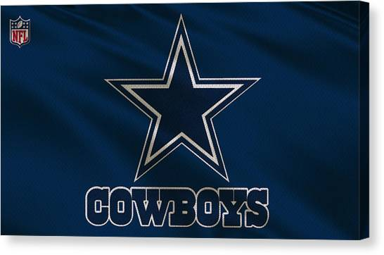 Nfc Canvas Print - Dallas Cowboys Uniform by Joe Hamilton