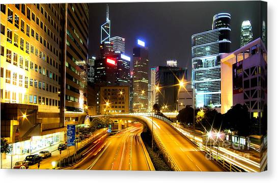 Hong Kong Canvas Print - Hong Kong by Baltzgar