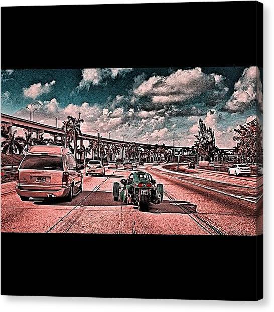 Interstates Canvas Print - ##ic_hdri #ic_daily #ic_wheels by Alexandr Dobrovan