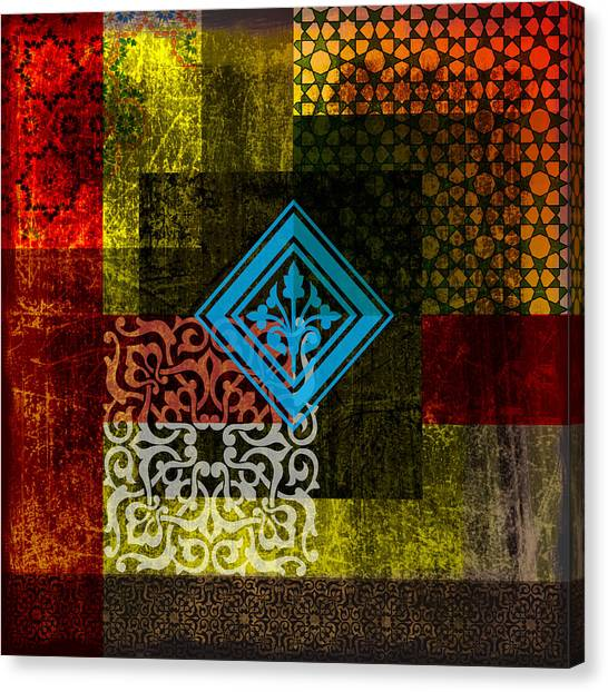 Islamic Art Canvas Print - Islamic Motif 01 by Corporate Art Task Force