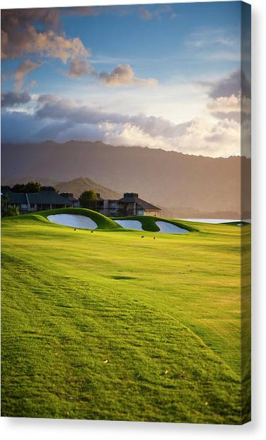 Golf Course Canvas Print - Kauai, Hawaii, Usa by Micah Wright
