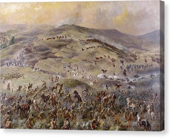 Carousel Collection Canvas Print - Little Bighorn, 1876 by Granger
