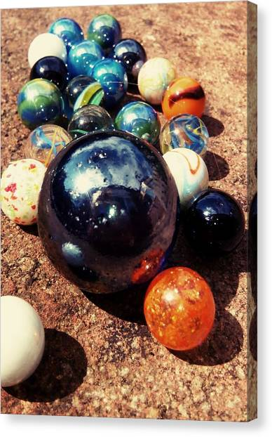 Floss Canvas Print - Marbles by Candy Floss Happy