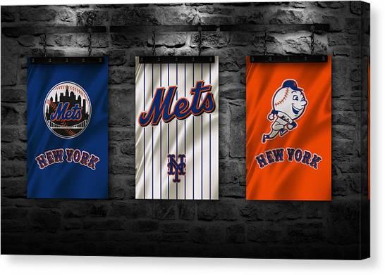 New York Mets Canvas Print - New York Mets by Joe Hamilton