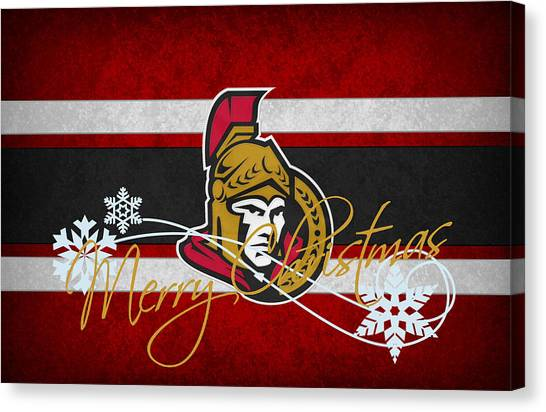 Ottawa Senators Canvas Print - Ottawa Senators by Joe Hamilton