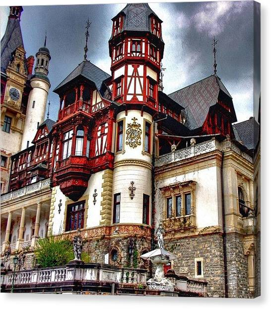 Soccer Players Canvas Print - Peles Castle by Octav Studio
