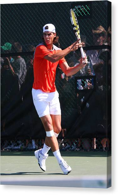 Rafael Nadal Canvas Print - Rafael Nadal	 by James Marvin Phelps