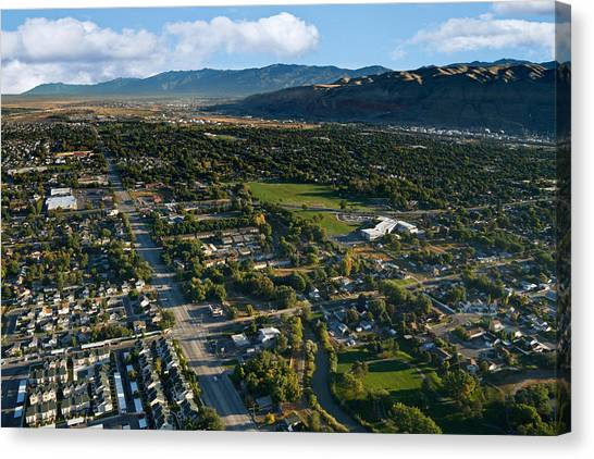 Real Salt Lake Canvas Print - Salt Lake City Utah by Douglas Pulsipher
