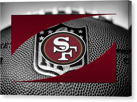 San Francisco 49ers Canvas Print - San Francisco 49ers by Joe Hamilton