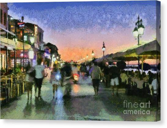 Sunset In Lefkada Town Canvas Print