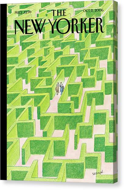 Maze Canvas Print - New Yorker October 2nd, 2006 by Jean-Jacques Sempe