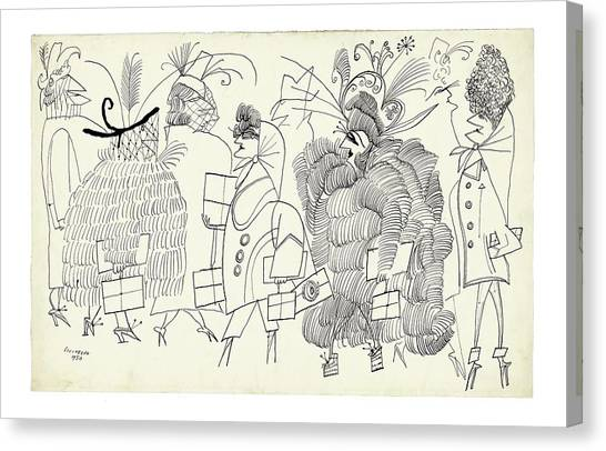 Fanciful Canvas Print - New Yorker December 13th, 2004 by Saul Steinberg