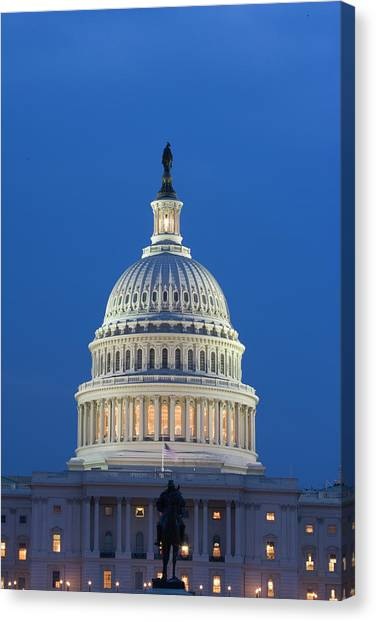 Capitol Building Canvas Print - Usa, Washington, D by Jaynes Gallery