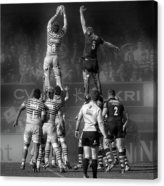 England rugby canvas print 8 vs 5 by peter sticza