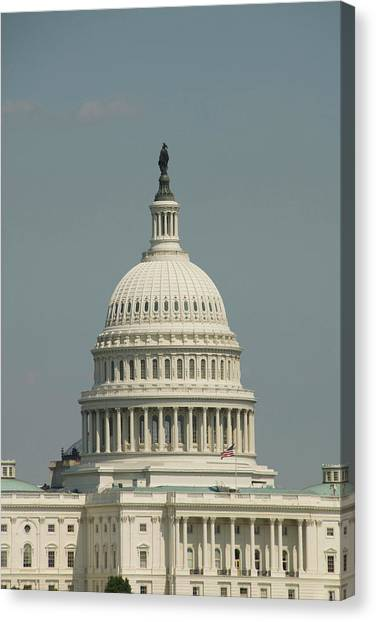 Capitol Building Canvas Print - Washington Dc, Usa by Lee Foster